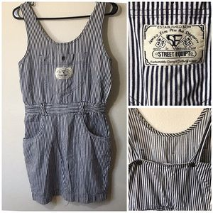 Vintage Engineer Stripe Jumper/ Skirt Overall
